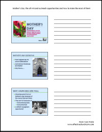 HANDOUTS for VIDEO for Mother's day