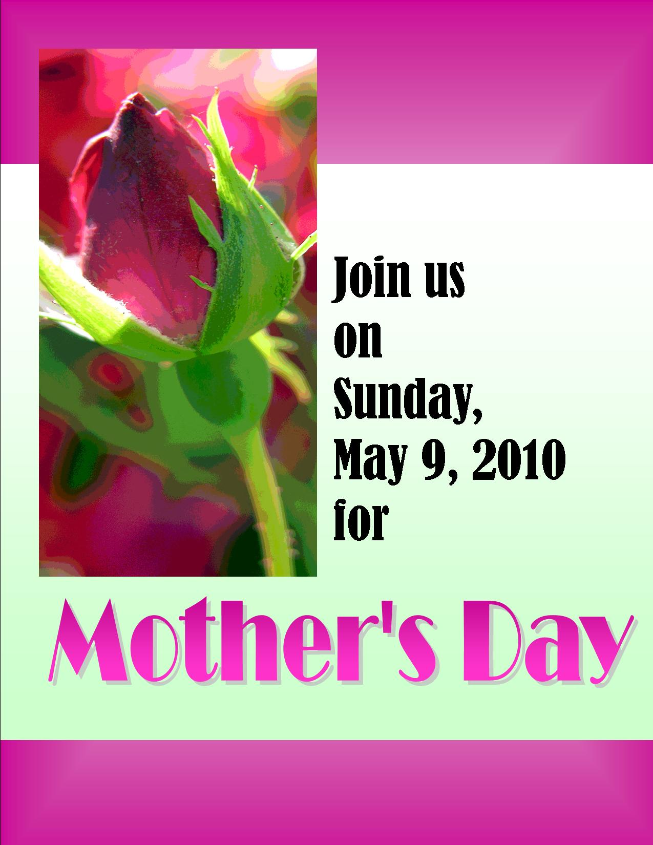 Mothers Day outreach – Mothers Day Invitation Cards