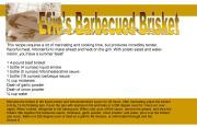BBQ recipe card