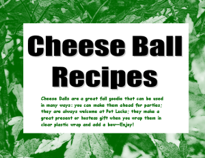 Cheese Balls Booklet Spot Color