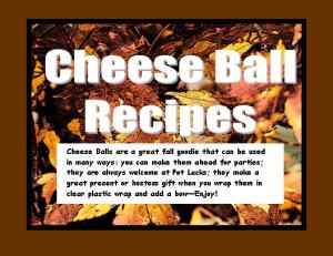 Cheese Balls Recipe Book, Full Color