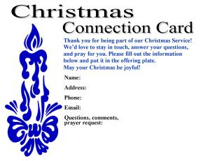 MS Publisher, Christmas Connection and Feedback Cards#1