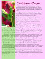 One Mother's Prayer, a free and inspiring bulletin insert for Mother's Day