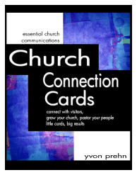 Church Connection Cards, connect with visitors, grow your church, pastor your people, little cards, big results