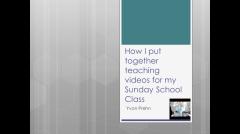 Video on how Yvon Prehn creates teaching videos