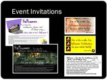 Halloween Event Invitations