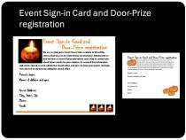 Halloween Event Sign In Card