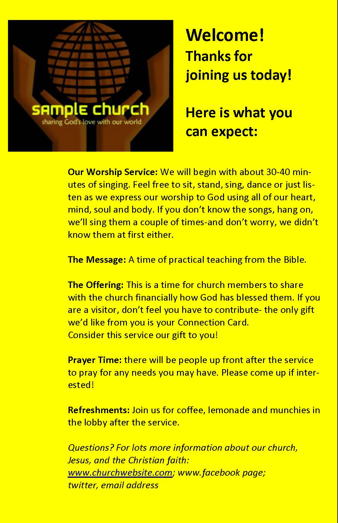 Why and how to create a digital church bulletin effective church communications for How to make a church bulletin