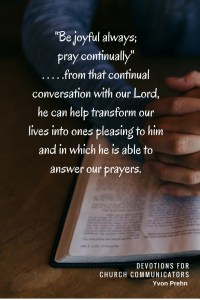 Devotions for Church Communicators #4