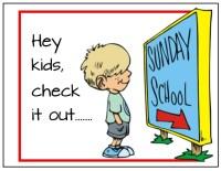 Kids Back to Church Postcard