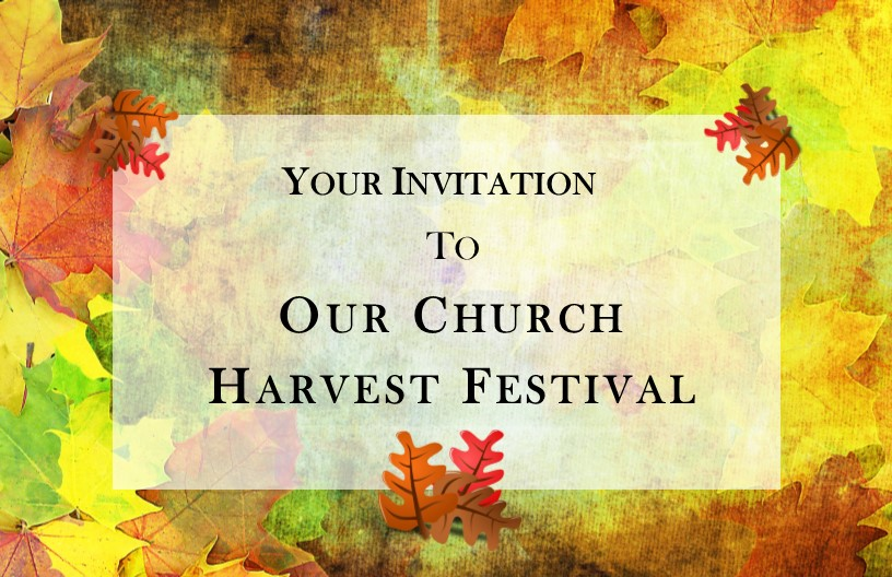 Templates Harvest Festival Invitation Cards
