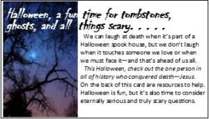 Halloween Evangelism card