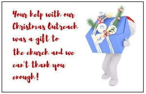 """Don't forget to say """"Thank YOU!"""" to your Christmas volunteers—cards done for you to help you do that."""