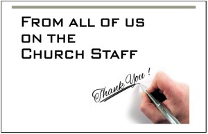 Church Volunteer Thank You Card