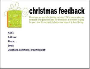 FREE Christmas Connection Card