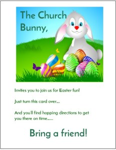 Church Bunny Invitations