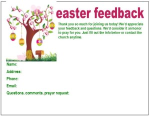 Easter Connection Cards