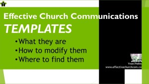 Church Communications Templates are a great resource