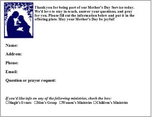 Mothers Day Connection Card