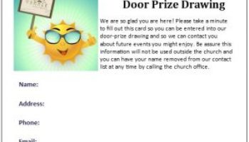 Back To Church Invite Cards For Late Summer Events Free