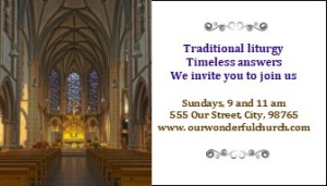 Church Business and Invitation cards, a GREAT tool for church outreach