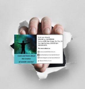 Church Business Invitation Cards