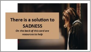 Women's card for domestic violence help