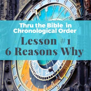 Why read your Bible in chronological order