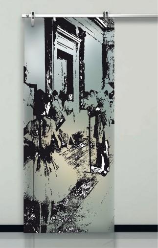 Porte interne in vetro decorato prezzi design moderno