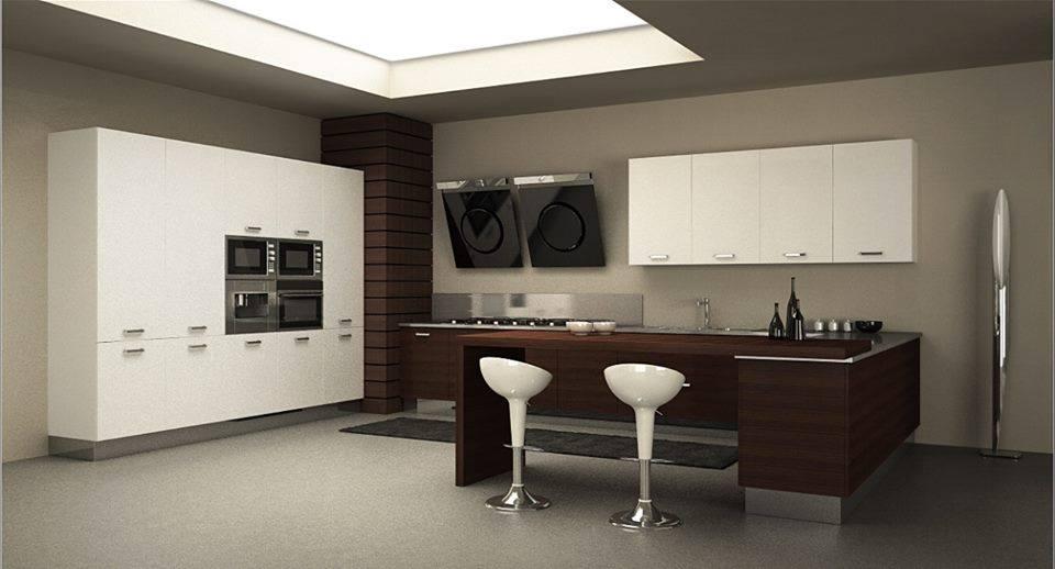 Awesome Cucina Bianca E Nera Contemporary  Home Interior Ideas  hollerbachus