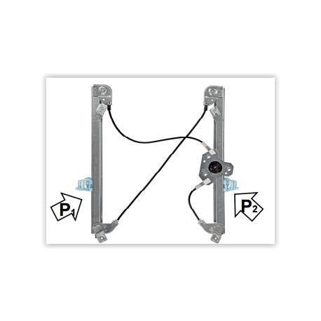 Meccanismo Alzacristalli Ant. DX Renault Megane/SW 02-08 Rhiag