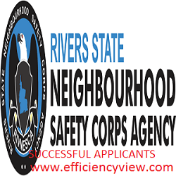 Photo of Rivers State Neighbourhood Safety Corps Agency Shortlisted Candidates 2020 for Screening/Interview