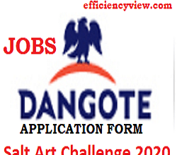 Photo of Dangote Salt Art Challenge 2020: Get Creative and win up 100000 apply here