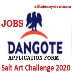 Dangote Salt Art Challenge 2020