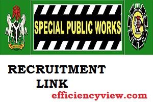 Photo of Link Portal for 2020/2021 Federal Government Special public works Recruitment to employ 774,000 Nigerians