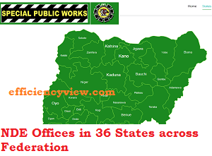 NDE Offices in 36 States in Nigeria & Register for 774000 LGA Empowerment Recruitment Exercise 2020/2021