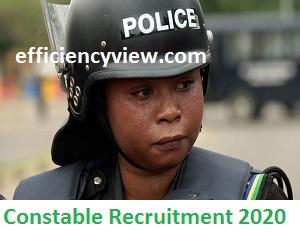 Nigerian Police Force Recruitment Application Form Login Portal 2020/2021