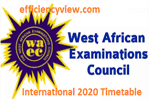 Photo of WAEC Exams Final International Timetable 2020 for conduct of WASSCE in Nigeria, Ghana, Sierra Leone, The Gambia, and Liberia is out