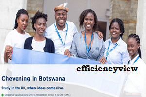 Photo of Chevening in Botswana Scholarship Programme Application Link Portal 2021/2022