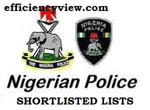 Photo of Nigeria Police Force PSC Shortlisted Candidates for CBT Test Screening 2020-2021