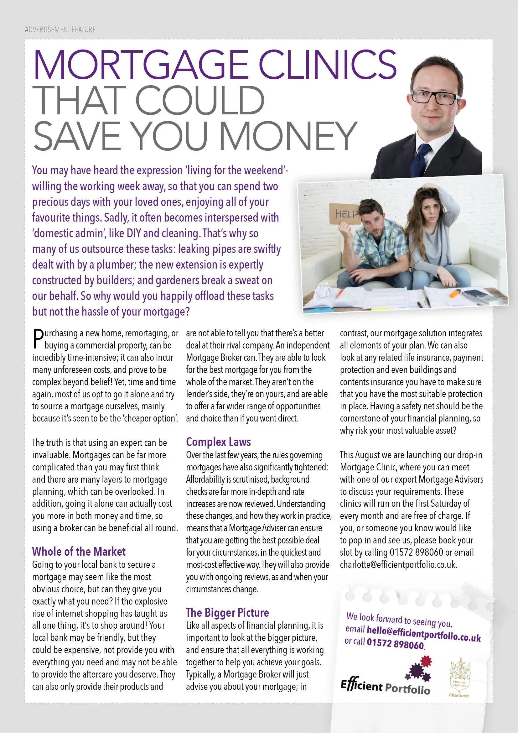 Rutland Living Efficient Portfolio Article July