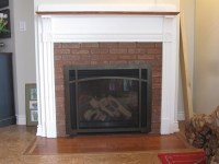 Gas fireplace with brick slices | Efficient Wood & Gas