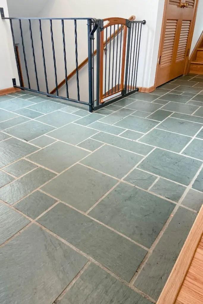 mcm slate floors stripping