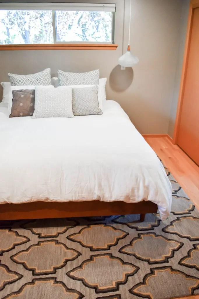 easy diy mid century modern bed built