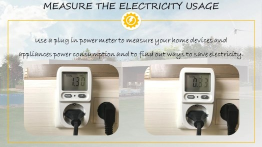 Measure electricity usage at home