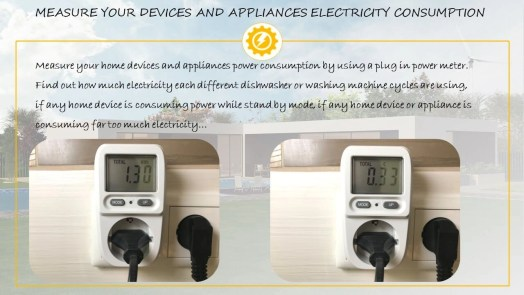 Plug in power meter electricity consumption