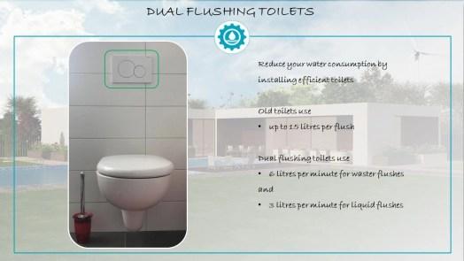 Dual Flushing Toilets