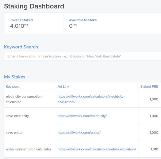 Stacking Presearch Tokens