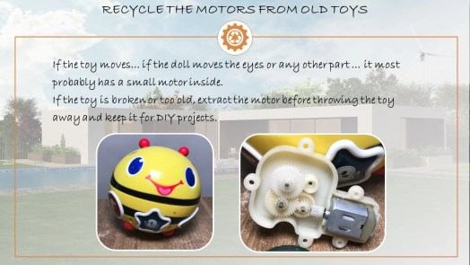 recycle toy motor