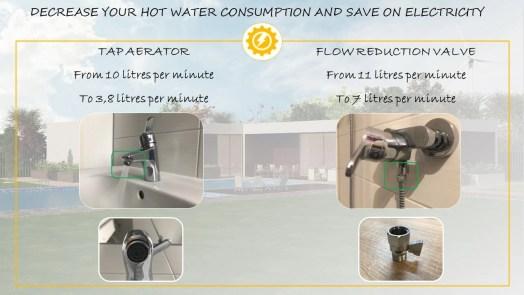 Decrease hot water consumption